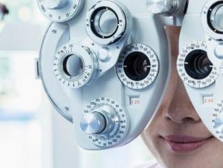 Lady Getting An Eye Exam
