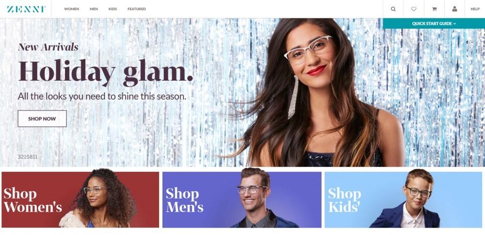 Zenni Homepage