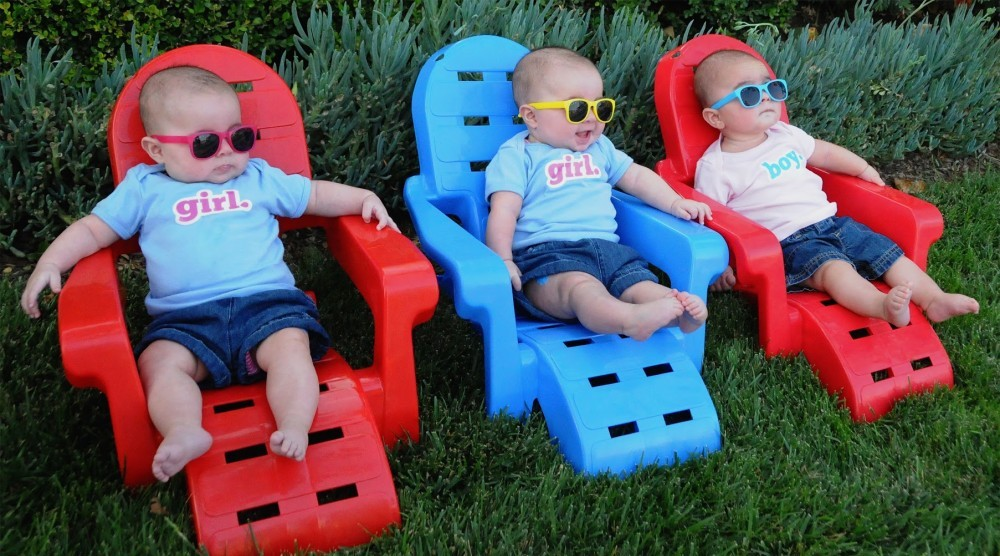 Babies with sunglasses